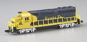 Bachmann GP40 Santa Fe Yellow/Blue N Scale Model Train Diesel Locomotive #63552