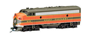 Bachmann EMD F7-A Great Northern with DCC N Scale Model Train Diesel Locomotive #63752