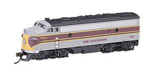 Bachmann EMD F7-A w/DCC Erie Lackawanna (Maroon/Gray) N Scale Model Train Diesel Locomotive #63754