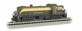 Bachmann RS3 Seaboard #1633 with DCC N Scale Model Train Diesel Locomotive #64258