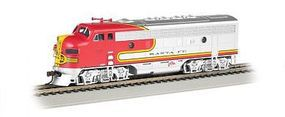 Bachmann F7 A DCC Sound Santa Fe (Red/Silver) HO Scale Model Train Diesel Locomotive #64301