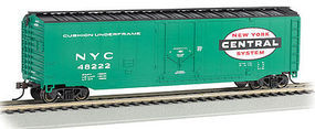 Bachmann 50 Plug Door Boxcar - Ready to Run - New York Central N Scale Model Train Freight Car #71070