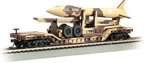 Bachmann 52 Flatcar Desert Military w/Missile N Scale Model Train Freight Car #71397