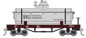 Bachmann Old-Time Tank Car Philadelphia & Reading HO Scale Model Train Freight Car #72103