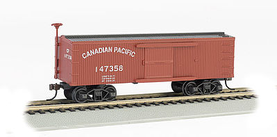 Bachmann Old-Time Box Car Canadian Pacific -- HO Scale Model Train Freight Car -- #72303