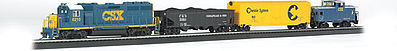 Bachmann Coastliner Railroad -- HO Scale Model Train Set -- #734