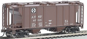 Bachmann PS-2 2bay Covered Hopper ATSF HO Scale Model Train Freight Car #73501