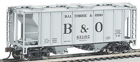 Bachmann PS-2 2-Bay Covered Hopper Baltimore & Ohio HO Scale Model Train Freight Car #73503