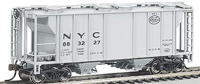 Bachmann PS-2 2-Bay Covered Hopper NYC HO Scale Model Train Freight Car #73504