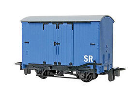 Bachmann Thomas & Friends Narrow Gauge Box Van Blue Model Train Freight Car #77202