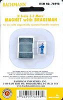 Bachmann Magnet w/Brakeman Figure N Scale Model Train Coupler #78998