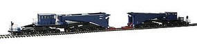 Bachmann Schnabel Car with Load blue/black HO Scale Model Train Freight Car #80511
