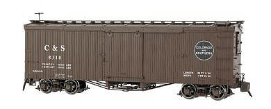 Bachmann Double-Sheathed Wood Boxcar Colorado & Southern -- G Scale Model Train Freight Car -- #88695