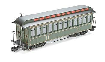 Bachmann Jackson Sharp Coach Painted/Unlettered Olive -- G Scale Model Train Passenger Car -- #89399