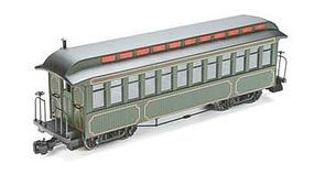 Bachmann Jackson Sharp Coach Painted/Unlettered Olive G Scale Model Train Passenger Car #89399