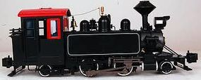 Bachmann 2-4-2T Steam Locomotive DCC Ready Painted, Unlettered Black G Scale #91198