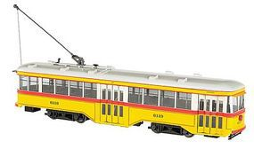Bachmann Peter Witt Streetcar BTC with DCC G Scale Trolley and Hand Car #91701