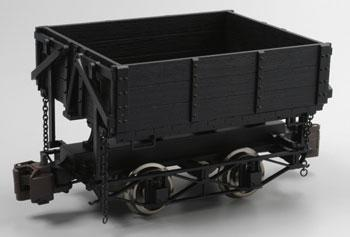 Bachmann Ore Car w/Metal Wheels - Wood Side-Dump (Black) -- G Scale Model Train Freight Car -- #92503