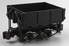 Bachmann Ore Car w/Metal Wheels - Wood Side-Dump (Black) G Scale Model Train Freight Car #92503