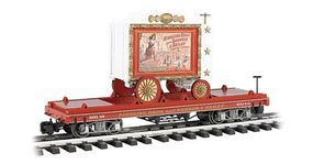 Bachmann Ringling Bros Flat Car w/Tableau Wagon Lady Artist G Scale Model Train Freight Car #92714