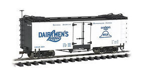 Bachmann Reefer Dairymans League G Scale Model Train Freight Car #93266