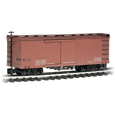 Bachmann Box Car Mineral Red Data Only -- G Scale Model Train Freight Car -- #93302