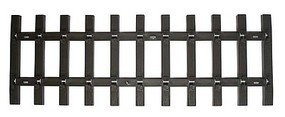 Bachmann Straight Track Tie Strips Only pkg(50) - G-Scale
