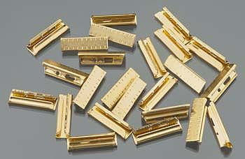 Bachmann Brass Rail Joiners (24pc/Bag) -- G Scale Brass Model Train Track -- #94657