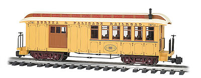 Bachmann Jackson Sharp w/Metal Wheels Combine E&P -- G Scale Model Train Passenger Car -- #97107