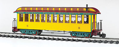 Bachmann Jackson Sharp w/Metal Wheels Coach Grizzly Flats -- G Scale Model Train Passenger Car -- #97205