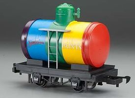 Bachmann Tank Car Lil Big Haulers - Spectrum Paints (Rainbow) G Scale Model Train Freight Car #98089