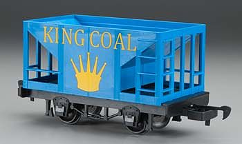 Bachmann Li'l Big Haulers Hopper Car King Coal -- G Scale Model Train Freight Car -- #98091