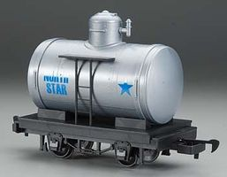 Bachmann Tank Car Lil Big Haulers - North Star (silver, blue) G Scale Model Train Freight Car #98098