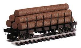 Bachmann Log Car w/Logs Undecorated G Scale Model Train Freight Car #98470
