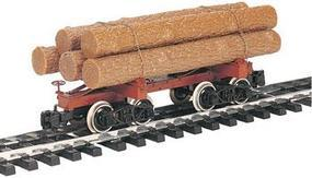Bachmann Skeleton Log Car w/Logs G Scale Model Train Freight Car #98490