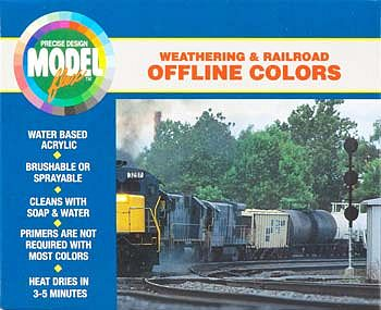 Badger Airbrush Co. Modelflex Paint Weathering & Railroad Off Line Colors Set -- Hobby and Model Acrylic Pa -- #1702