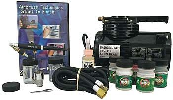 Badger Airbrush Co. Complete Hobby Set with Compressor -- Airbrush Compressor -- #314-hswc