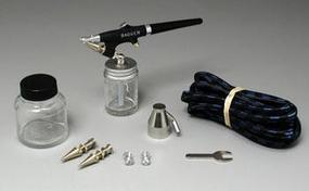 Badger Fine, Medium & Heavy Heads Single Action Bottom Feed Airbrush Airbrush and Airbrush Set #350-4