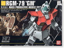 Bandai 20 RGM-79 GM HG Snap Together Plastic Model Figure #101787