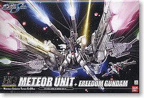 Bandai 16 METEOR UNIT & FREEDOM HG Snap Together Plastic Model Figure #125301