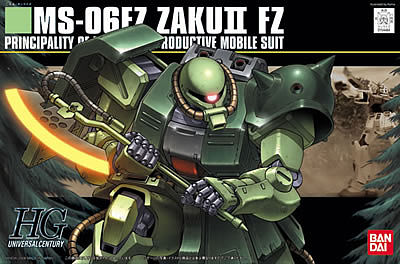 Bandai Models 87 MS-06F ZAKU II FZ HG -- Snap Together Plastic Model Figure -- #154484