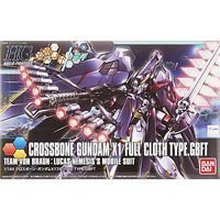 Bandai Crossbone Gundam X-1 Full Cloth Snap Together Plastic Model Figure 1/144 Scale #196431