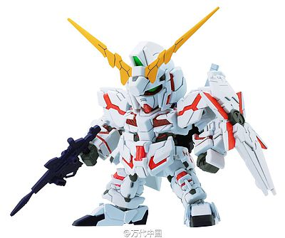 Bandai Models SD Gundam Ex-Std 005 Unicorn Gundam -- Snap Together Plastic Model Figure -- #204433