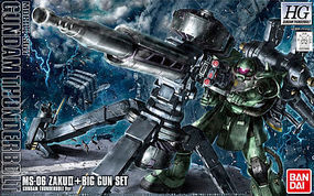 Bandai HGTB Zaku/Big Gun (Anime Color) Gundam Thunderbolt Snap Together Plastic Model Figure #207886