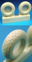 Barracuda P51D Octagonal Tread Tires for a Tamiya Model Plastic Model Airplane Wheel 1/32 #32031