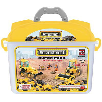 BRICTEK BUILDING BLOCKS Construction Super Pack 553pcs -- Building Block Set -- #14016