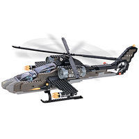 Brictek Air Force Apache Helicopter 5 In 1 387pcs Building Block Set #15711