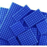 Brictek Baseplates 17 Assorted Blue Building Block Set #19014