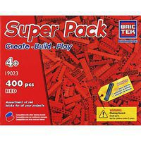 Brictek Red Super Pack 400pcs Building Block Set #19023