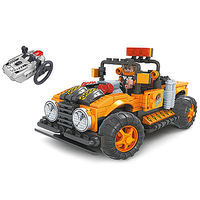 Brictek R/C Off-Road Truck Orange 252pcs Building Block Set #20212